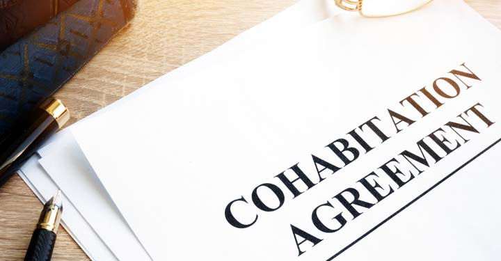 "Document labeled ""cohabitation agreement"""